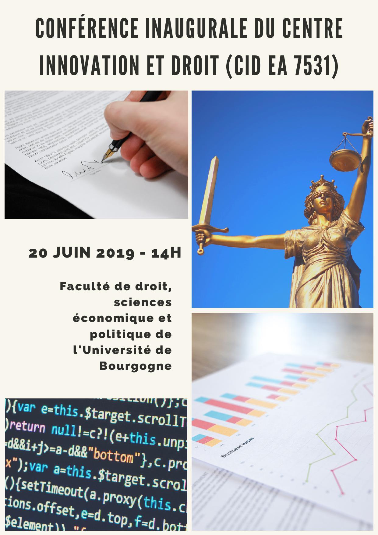 Conference inaugurale du centre innovation et droit1
