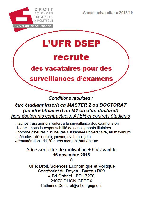 recrutement DSEP octobre2018