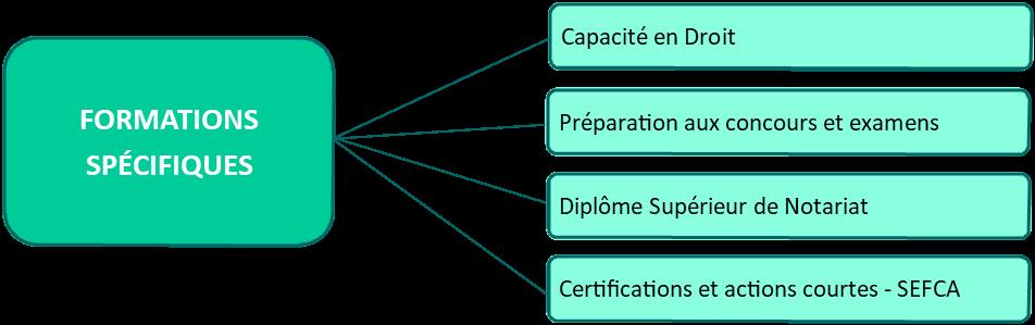 Formations spécifiques