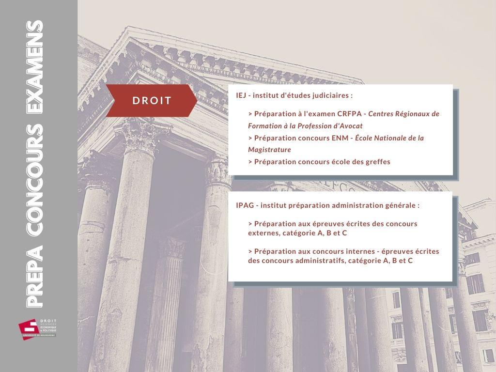 schema offre formation DSEP 2021 prépa concours examens
