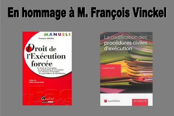 Disparition de notre collègue François Vinckel