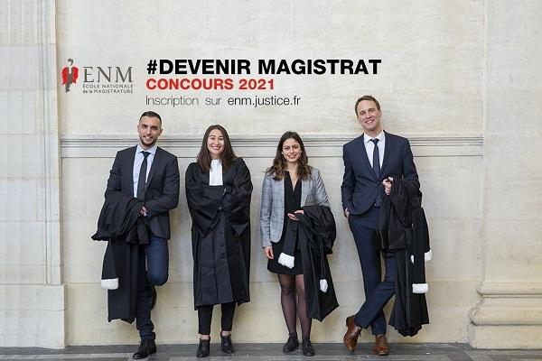 Concours d'accès 2021 à la magistrature : inscriptions jusqu'au 12 mars