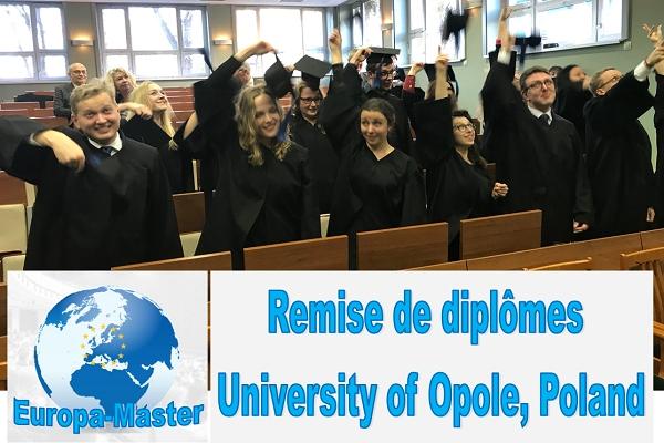 Remise des diplômes du Master en études européenne EUROPA MASTER